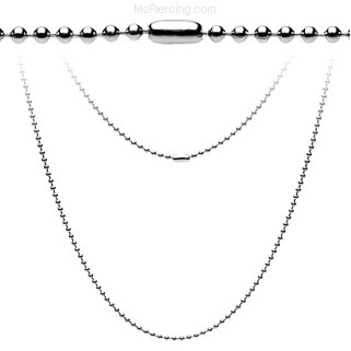 "20"" Small Steel Ball Chain Necklace"