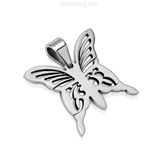 316L Stainless Steel Pendant. Butterfly