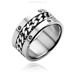 316L Stainless Steel Ring. Chain Center Bolted Rings