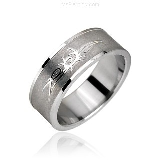 Surgical Steel Tribal Symbol Ring