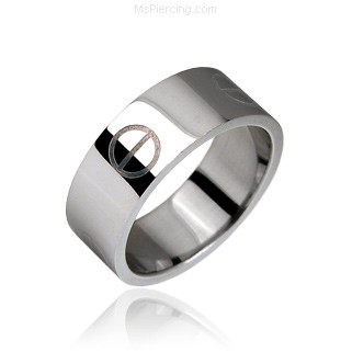 Surgical Steel Bolt engraved Ring