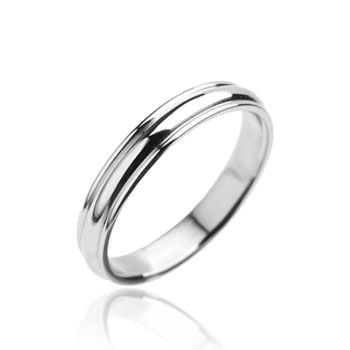 316L Stainless Steel Ring Plain Grooved Wedding Band