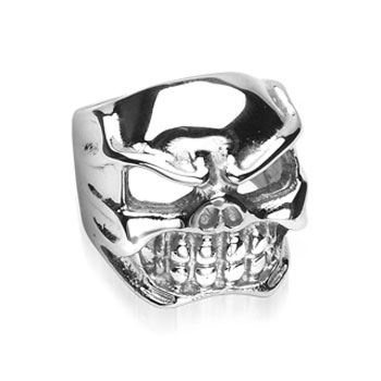316L Surgical Stainless Steel Large Skull Ring