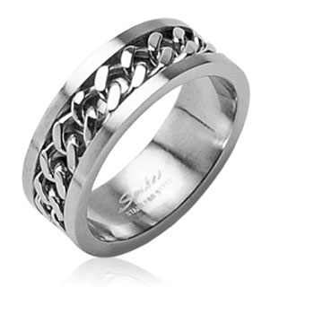 316L Surgical Stainless Steel Rings/ Chain Center