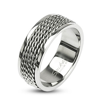 316L Stainless Steel Chain Links Loop Center Ring