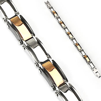316L Stainless Steel Multi Colored Link Bracelet