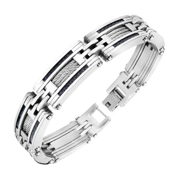 316L Stainless Steel CF And Wire Inlayed Bracelet