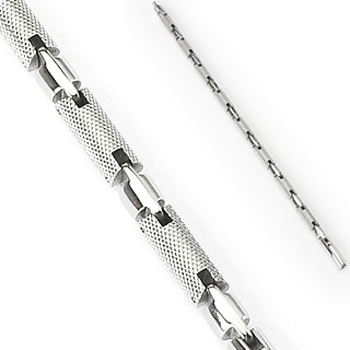316L Stainless Steel Textured Cylinder Bracelet