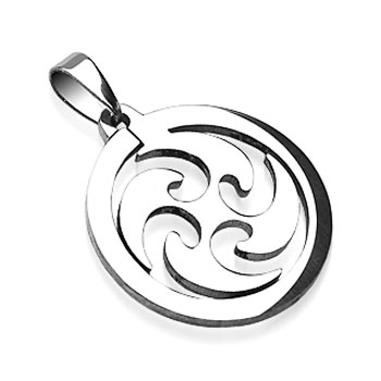 316L Surgical Steel Whirl Wind Pendant