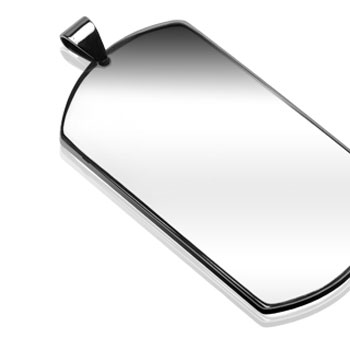 316L Stainless Steel (X-Large Size) Plain Dog Tag Pendant