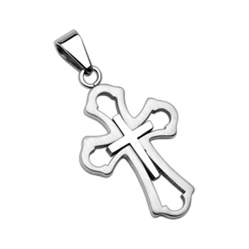 316L Stainless Steel Cross within A Cross Pendant