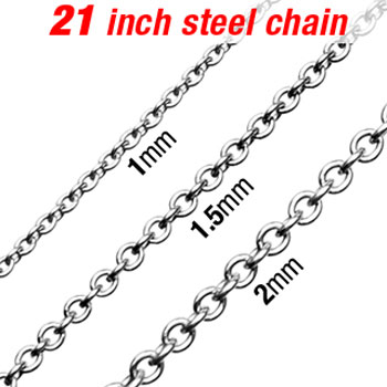 "21"" 316L Stainless Steel Necklace W/ Round Links"