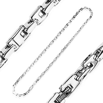 316L Stainless Steel Luxury Square Link Chain