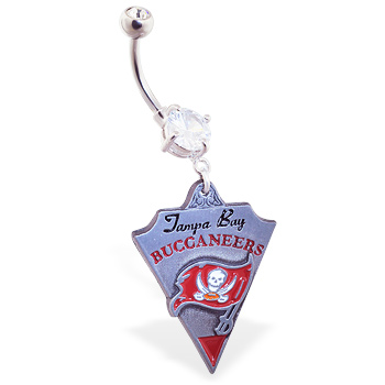 Belly Ring with official licensed NFL charm, Tampa Bay Buccaneers