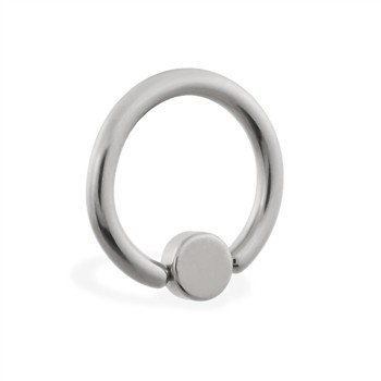 Captive bead ring with 4mm flat ball, 14 ga