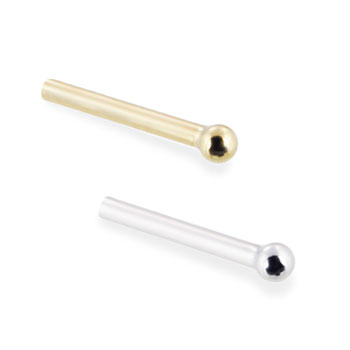14K Gold Customizable Nose Stud with Ball tip
