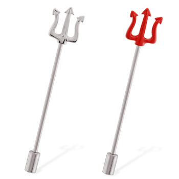 Pitchfork industrial straight barbell with cylinder end, 14 ga