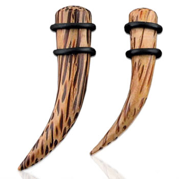 Organic coco wood curved taper