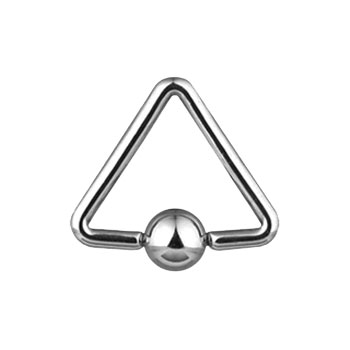 "Triangle captive bead ring with 1/2"" diameter"