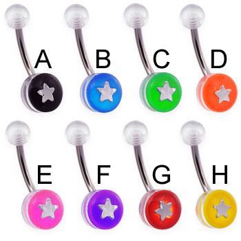 Acrylic Star Navel Ring