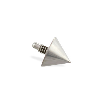 Titanium internally threaded dermal top cone, 16 ga