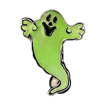 Glow-in-the-dark ghost reversed belly ring