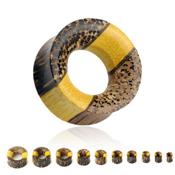 Pair Of Triple Layered Organic Wood Saddle Tunnels