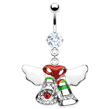 Christmas Bells Belly Button Ring