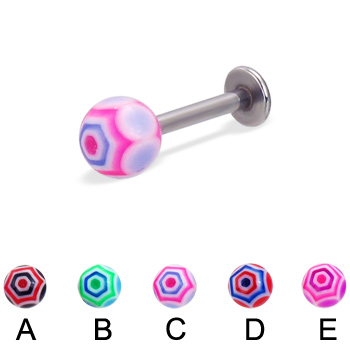 Web ball labret, 14 ga
