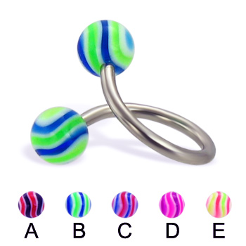 Wave ball twister, 14 ga