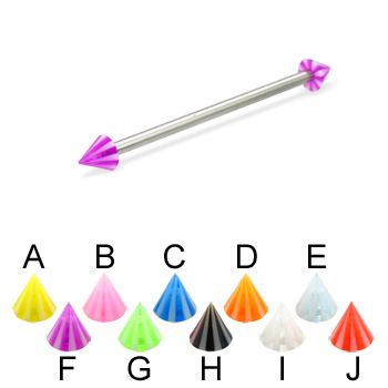 Long barbell (industrial barbell) with beach cones, 12 ga
