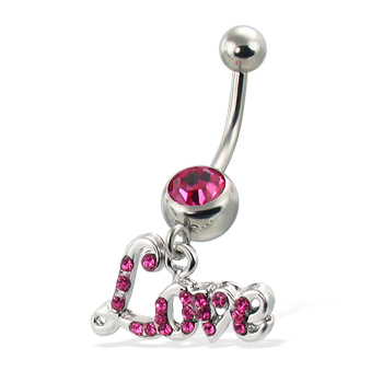 Love navel ring