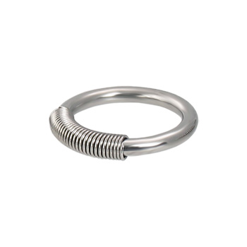 Spring wire captive ring, 12 ga