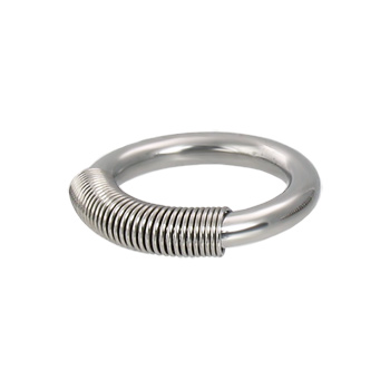 Spring wire captive ring, 10 ga