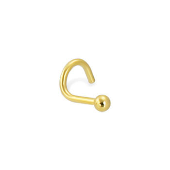 Gold Tone nose screw with ball, 18 ga