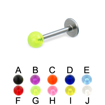 UV ball labret, 16 ga