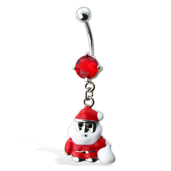 Santa Claus Christmas Belly Button Ring