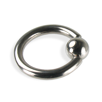 Titanium captive bead ring, 10 ga