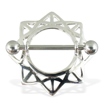 Geometric nipple rings, 14 ga