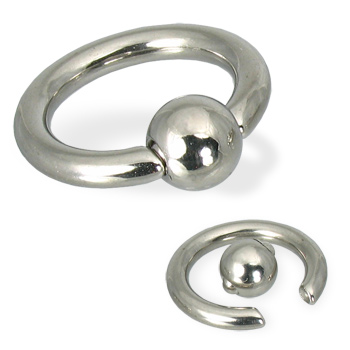 Spring ball captive bead ring, 8 ga