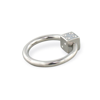 Die captive bead ring, 14 ga