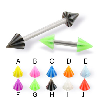 Beach cone straight barbell, 14 ga