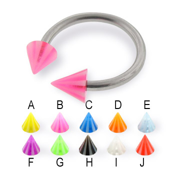 Beach cone horseshoe ring, 14 ga