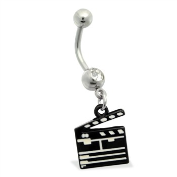 Belly Ring with dangling director's cut board