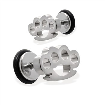 Pair Of Fake Brassknuckle Plugs, 16GA