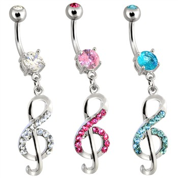 Steel Treble Clef Music Note