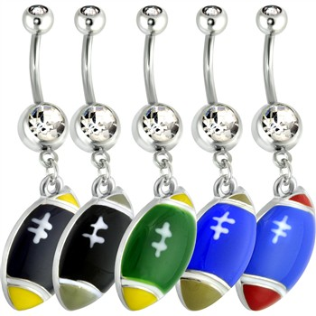 Football Belly Ring