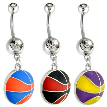 Basketball Navel Ring