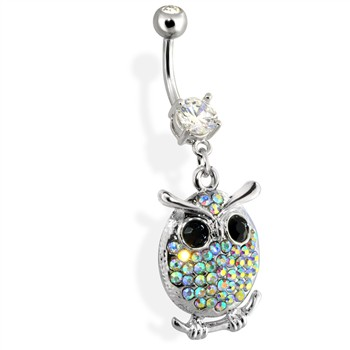 Paved Owl Belly Ring
