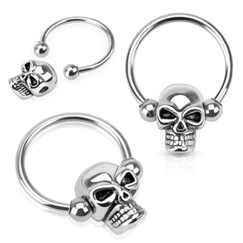 Skull Bead Surgical Steel Captive Bead Ring